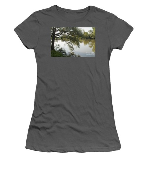 Women's T-Shirt (Junior Cut) featuring the photograph Erie Canal Turning Basin by William Norton