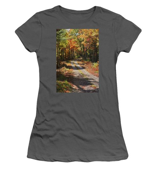 Fall On The Wyrick Trail Women's T-Shirt (Junior Cut) by Denise Romano