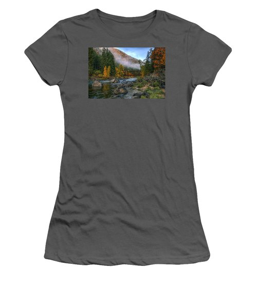 Fall Up The Tumwater Women's T-Shirt (Athletic Fit)