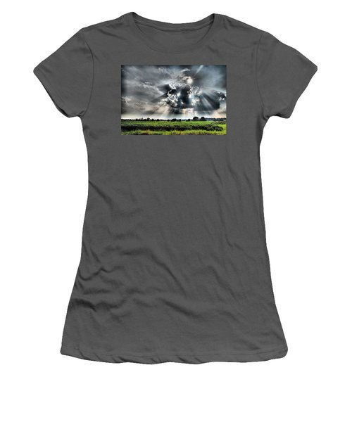 Field Of Beams Women's T-Shirt (Athletic Fit)