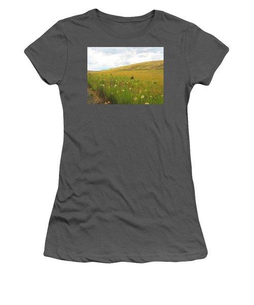 Field Of Dandelions Women's T-Shirt (Athletic Fit)