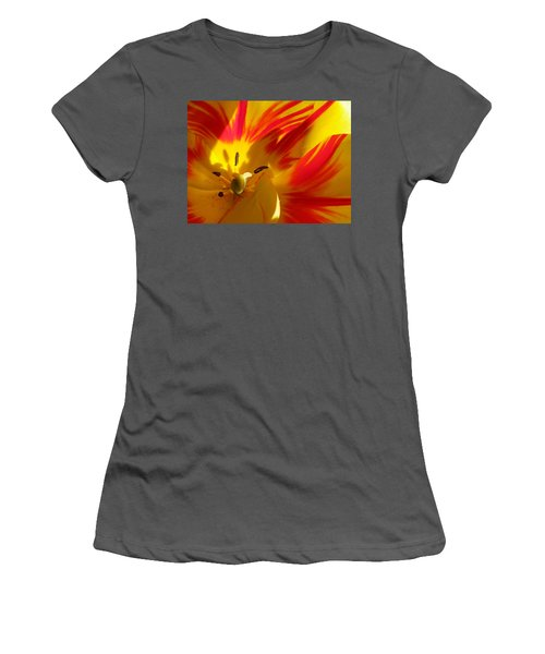 Fire Tulip Women's T-Shirt (Athletic Fit)