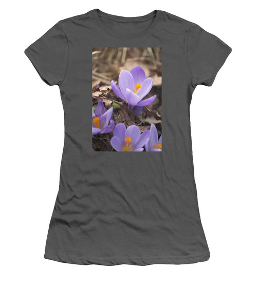 First Crocus Blooms Women's T-Shirt (Athletic Fit)