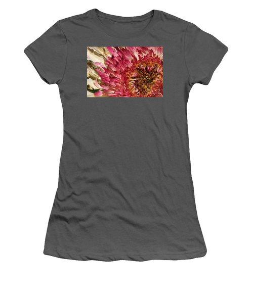 Flower Art Women's T-Shirt (Athletic Fit)