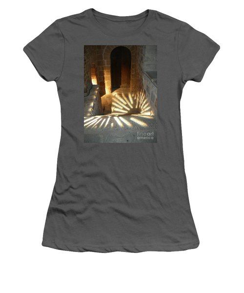 Follow The Light-stairs Women's T-Shirt (Athletic Fit)