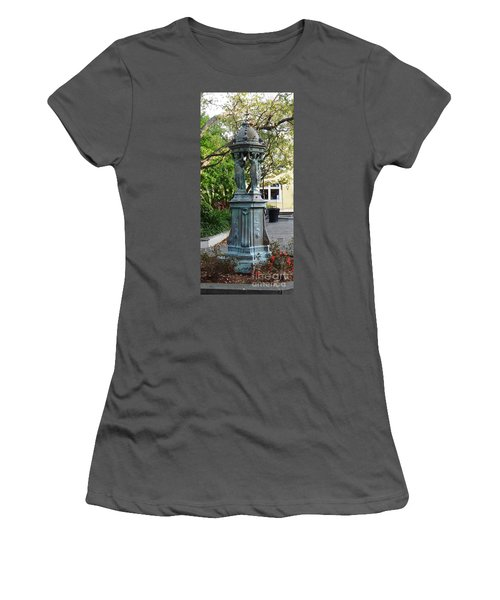 Women's T-Shirt (Junior Cut) featuring the photograph Garden Statuary In The French Quarter by Alys Caviness-Gober
