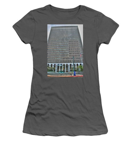 Women's T-Shirt (Junior Cut) featuring the photograph Giant Bank Of M And T by Michael Frank Jr