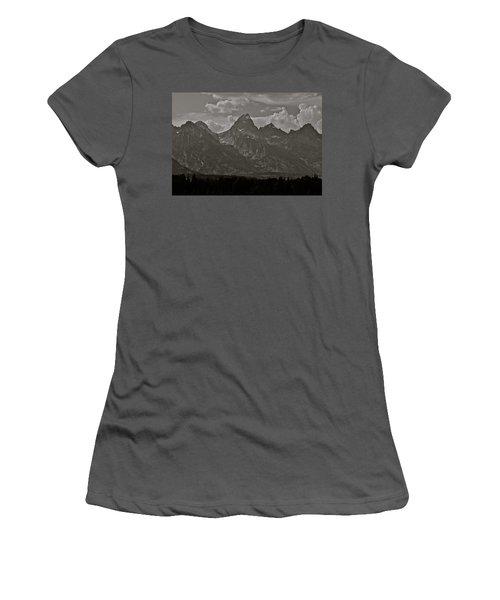 Women's T-Shirt (Junior Cut) featuring the photograph Grand Tetons by Eric Tressler