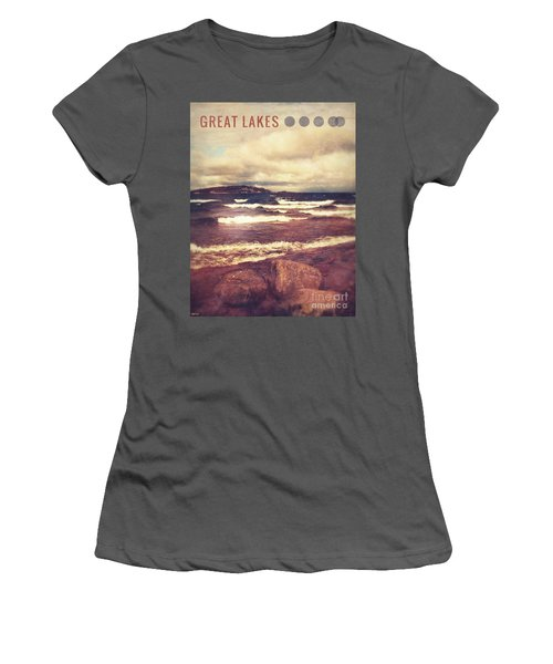 Women's T-Shirt (Junior Cut) featuring the photograph Great Lakes by Phil Perkins
