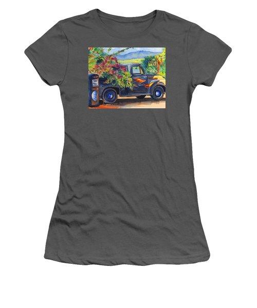 Hanapepe Truck Women's T-Shirt (Junior Cut) by Marionette Taboniar