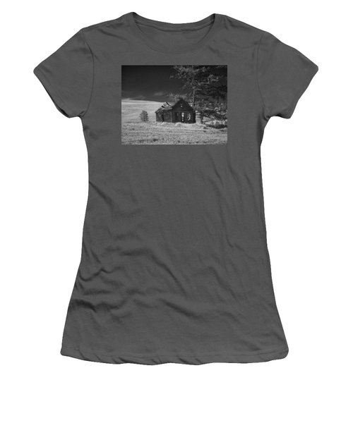Haunted House Women's T-Shirt (Junior Cut) by Anne Mott