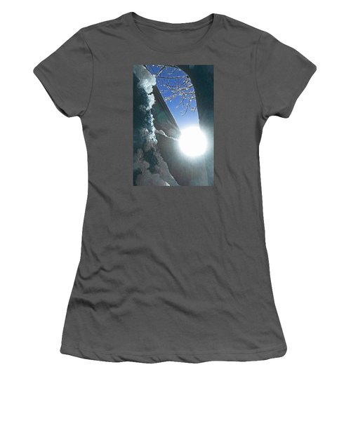 Women's T-Shirt (Junior Cut) featuring the photograph In The Cold Of The Sun by Steve Taylor