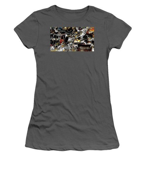 Women's T-Shirt (Junior Cut) featuring the photograph Junky Treasure 2 by Lydia Holly