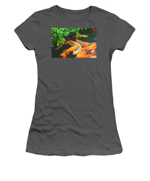 Koi Joy Women's T-Shirt (Athletic Fit)