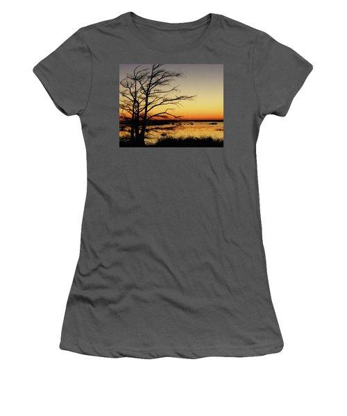 Women's T-Shirt (Junior Cut) featuring the photograph Lacassine Sunset by Lizi Beard-Ward