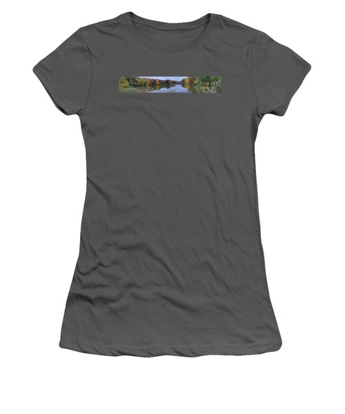 Women's T-Shirt (Junior Cut) featuring the photograph Lake Eastman by William Norton