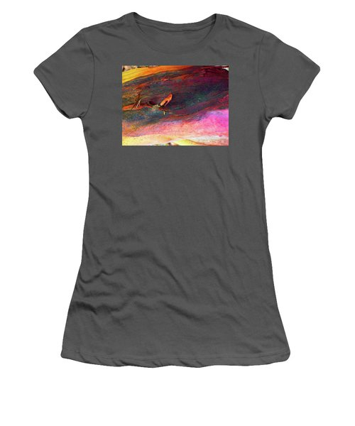 Women's T-Shirt (Junior Cut) featuring the digital art Landing by Richard Laeton