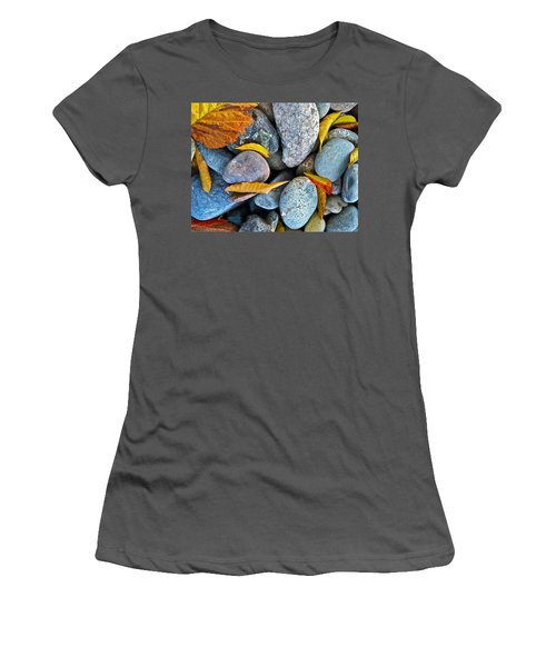 Women's T-Shirt (Junior Cut) featuring the photograph Leaves And Rocks by Bill Owen