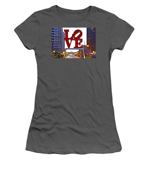 Women's T-Shirt (Junior Cut) featuring the photograph Love In Philadelphia by Alice Gipson