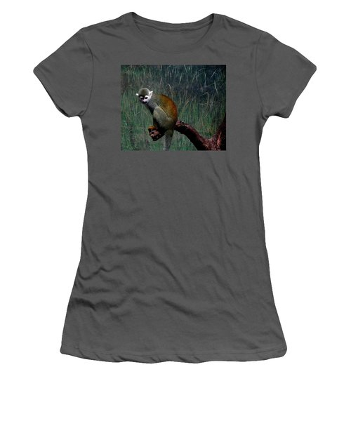 Women's T-Shirt (Junior Cut) featuring the photograph Monkey by Maria Urso