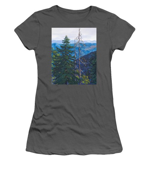Mountain View Women's T-Shirt (Athletic Fit)