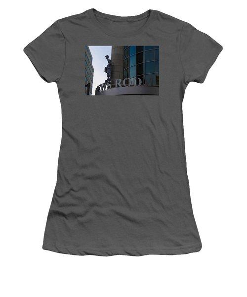 Women's T-Shirt (Junior Cut) featuring the photograph News Room by Stephanie Nuttall