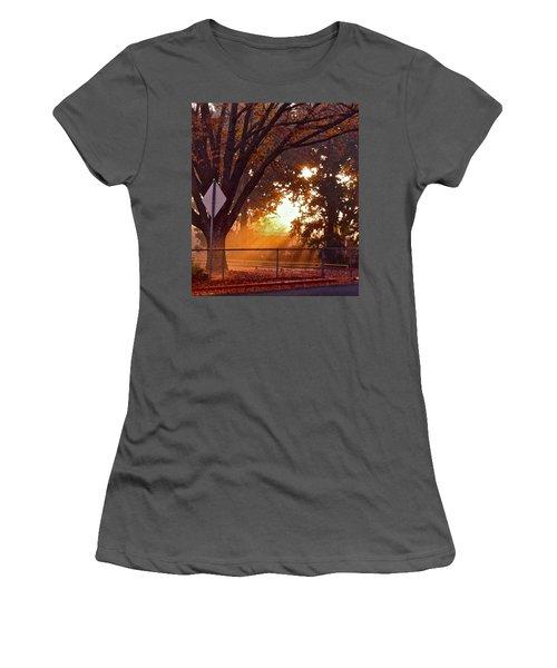 November Sunrise Women's T-Shirt (Junior Cut) by Bill Owen