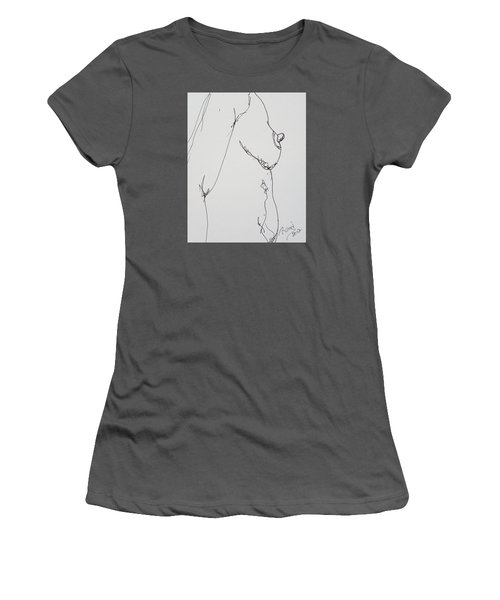 Nude Breast Study Women's T-Shirt (Junior Cut) by Rand Swift