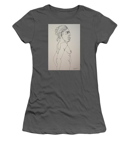 Nude Girl In Contour Women's T-Shirt (Junior Cut) by Rand Swift
