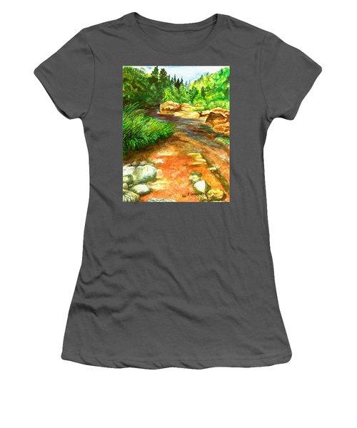 Oak Creek Red Women's T-Shirt (Athletic Fit)
