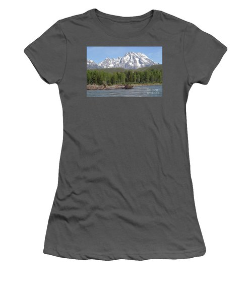 On The Snake River Women's T-Shirt (Junior Cut) by Living Color Photography Lorraine Lynch