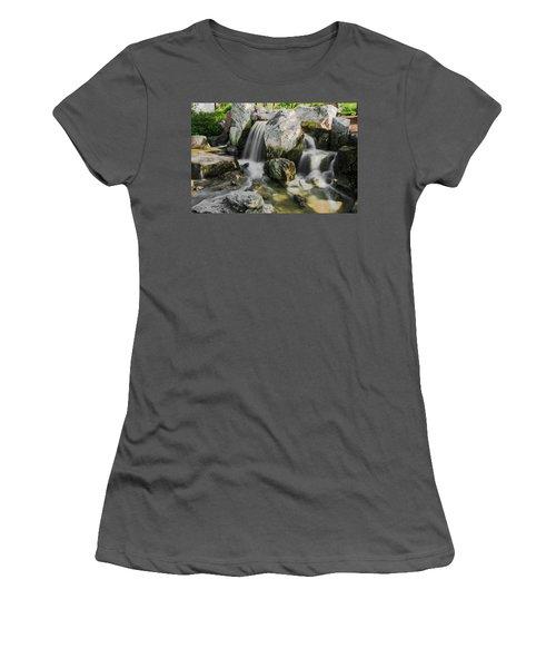 Osaka Garden Waterfall Women's T-Shirt (Athletic Fit)