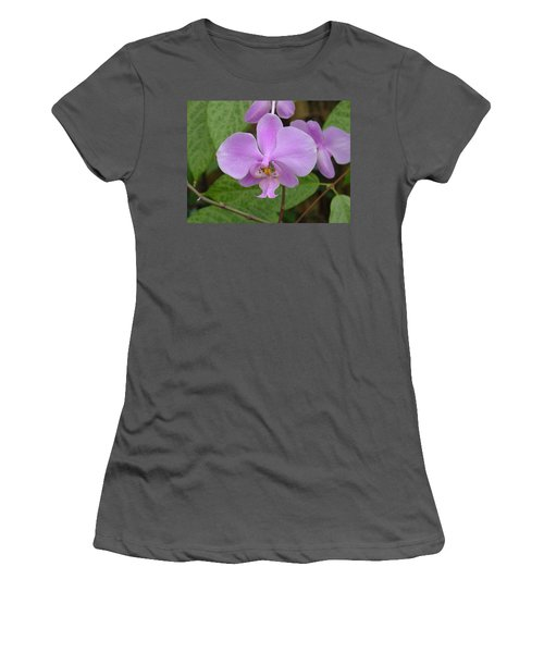Pale Pink Orchid Women's T-Shirt (Athletic Fit)