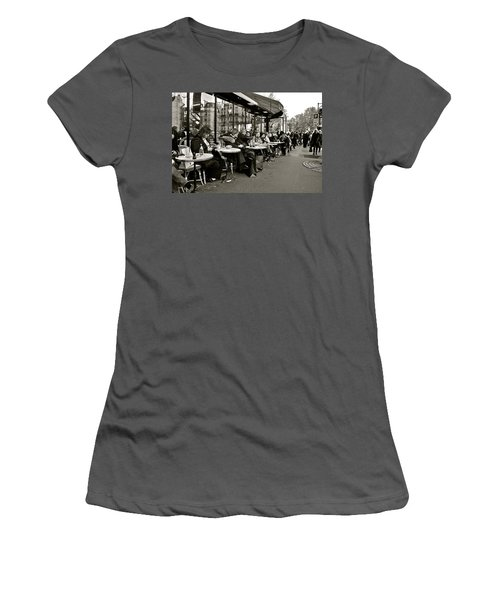 Women's T-Shirt (Junior Cut) featuring the photograph Paris Cafe by Eric Tressler