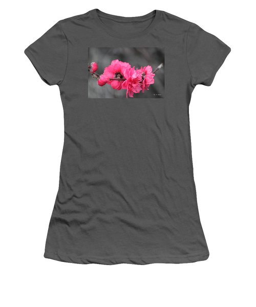 Pink Blossoms  Women's T-Shirt (Junior Cut) by Amy Gallagher