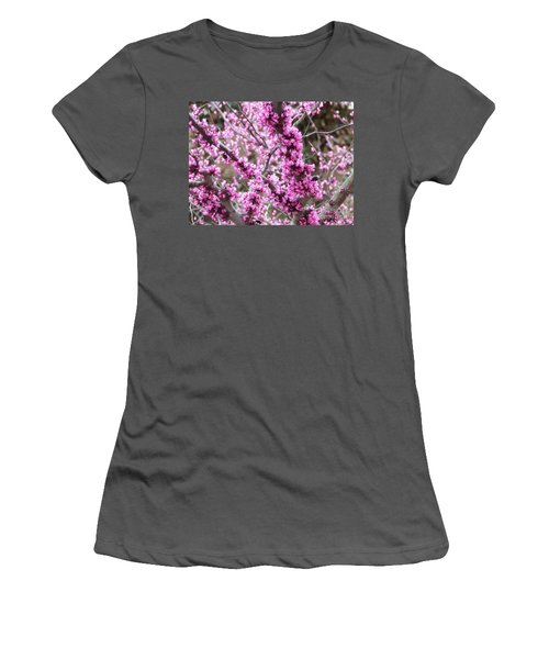 Women's T-Shirt (Junior Cut) featuring the photograph Pink Flower by Andrea Anderegg