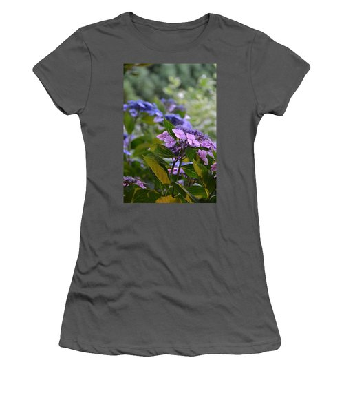 Purple And Green Women's T-Shirt (Athletic Fit)