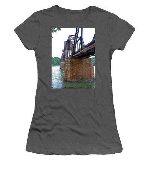 Women's T-Shirt (Junior Cut) featuring the photograph Railroad Bridge 2 by Kay Lovingood