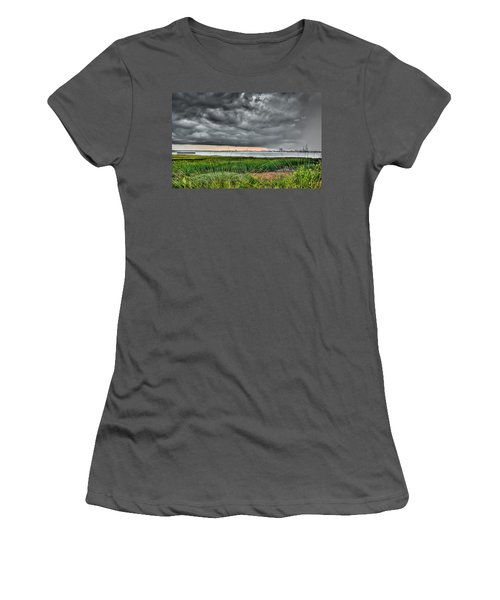 Rain Rolling In On The River Women's T-Shirt (Athletic Fit)