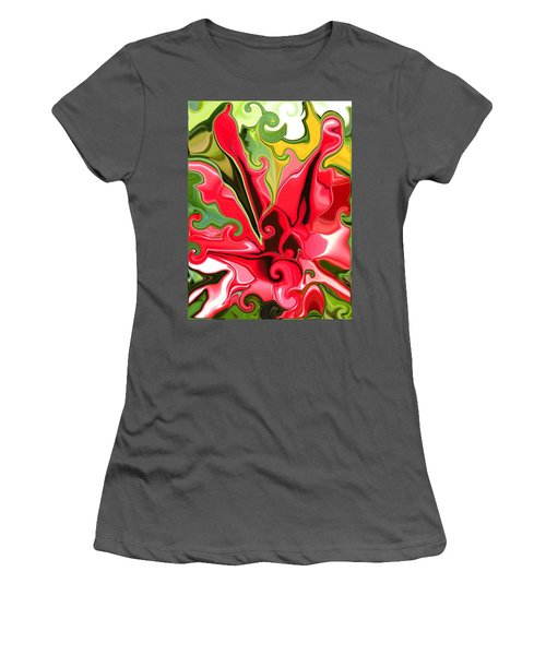 Red Fantasy Lily Women's T-Shirt (Athletic Fit)