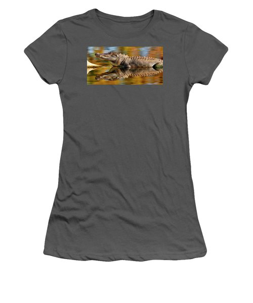 Relection Of An Alligator Women's T-Shirt (Athletic Fit)