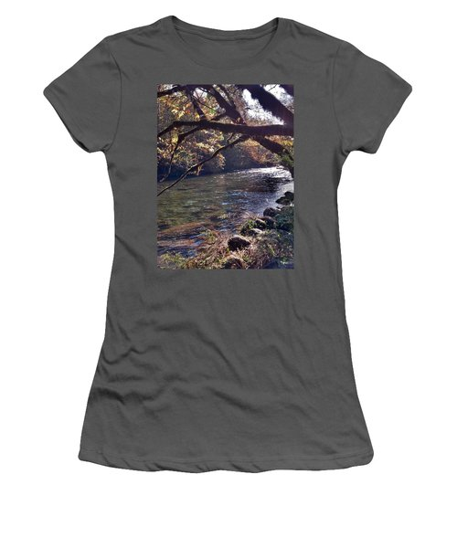 Women's T-Shirt (Junior Cut) featuring the photograph Rivee View by Janice Spivey