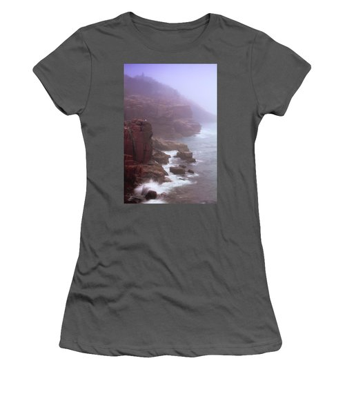 Rugged Seacoast In Mist Women's T-Shirt (Athletic Fit)