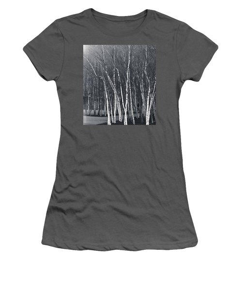 Silver Trees Women's T-Shirt (Athletic Fit)
