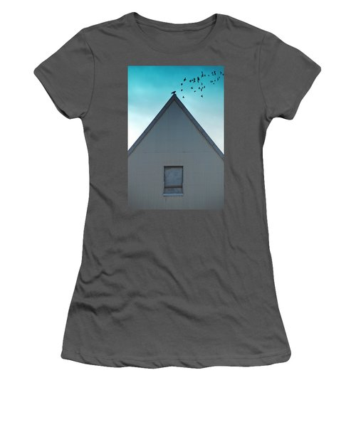 Women's T-Shirt (Junior Cut) featuring the photograph Sitting On The Peak by Kathleen Grace
