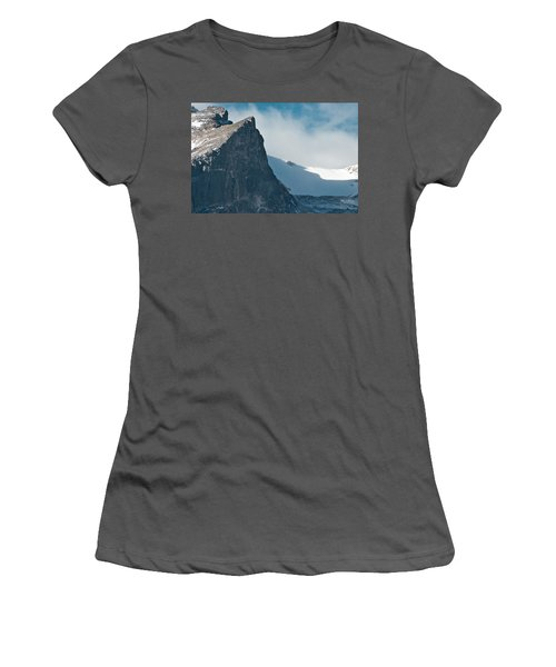 Snowy Flatirons Women's T-Shirt (Junior Cut) by Colleen Coccia