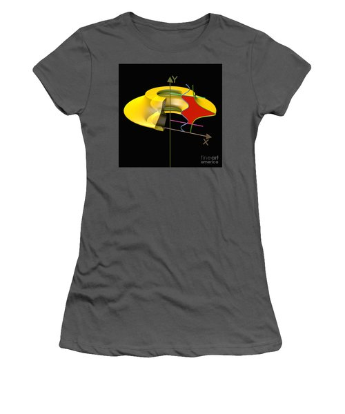 Women's T-Shirt (Junior Cut) featuring the digital art Solid Of Revolution 6 by Russell Kightley