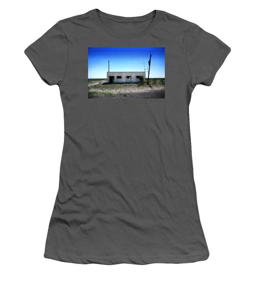 Women's T-Shirt (Junior Cut) featuring the photograph Somewhere On The Old Pecos Highway Number 1 by Lon Casler Bixby