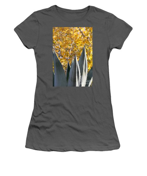 Spikes And Leaves Women's T-Shirt (Athletic Fit)