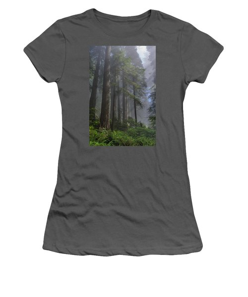 Sun Breaking On Redwoods Women's T-Shirt (Athletic Fit)